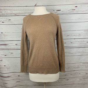 Lord And Taylor Tan Cashmere Crew Sweater XS